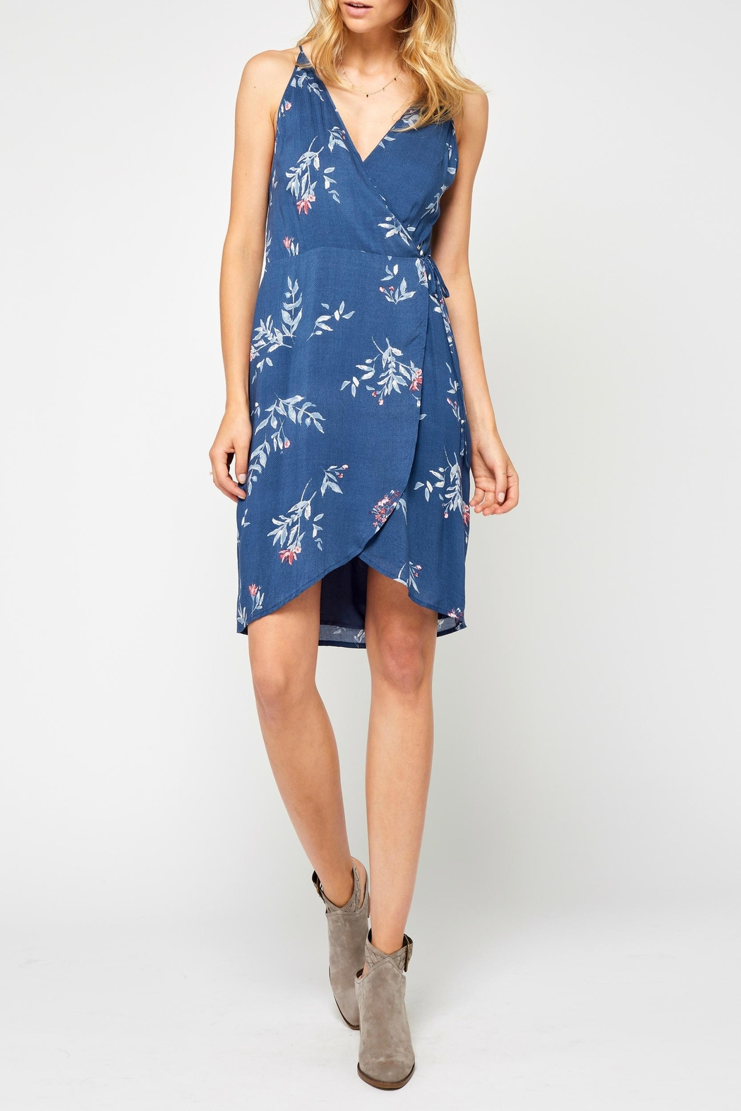 Gentle Fawn Blue Print Dress - Front Cropped Image