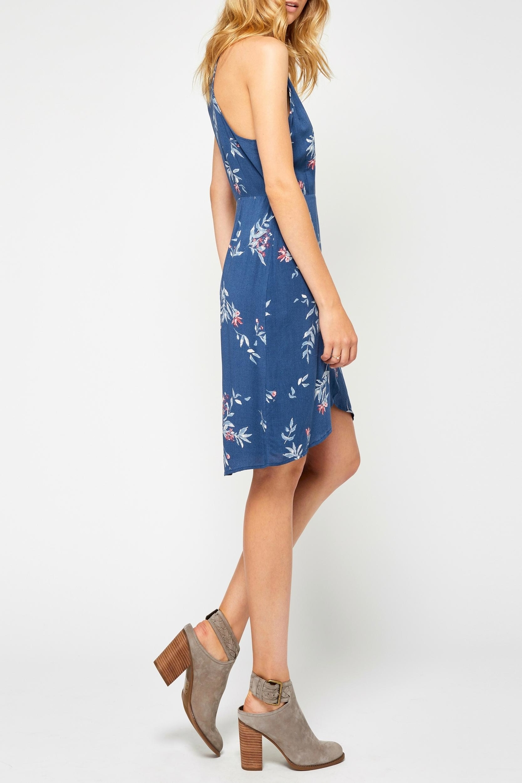 Gentle Fawn Blue Print Dress - Front Full Image