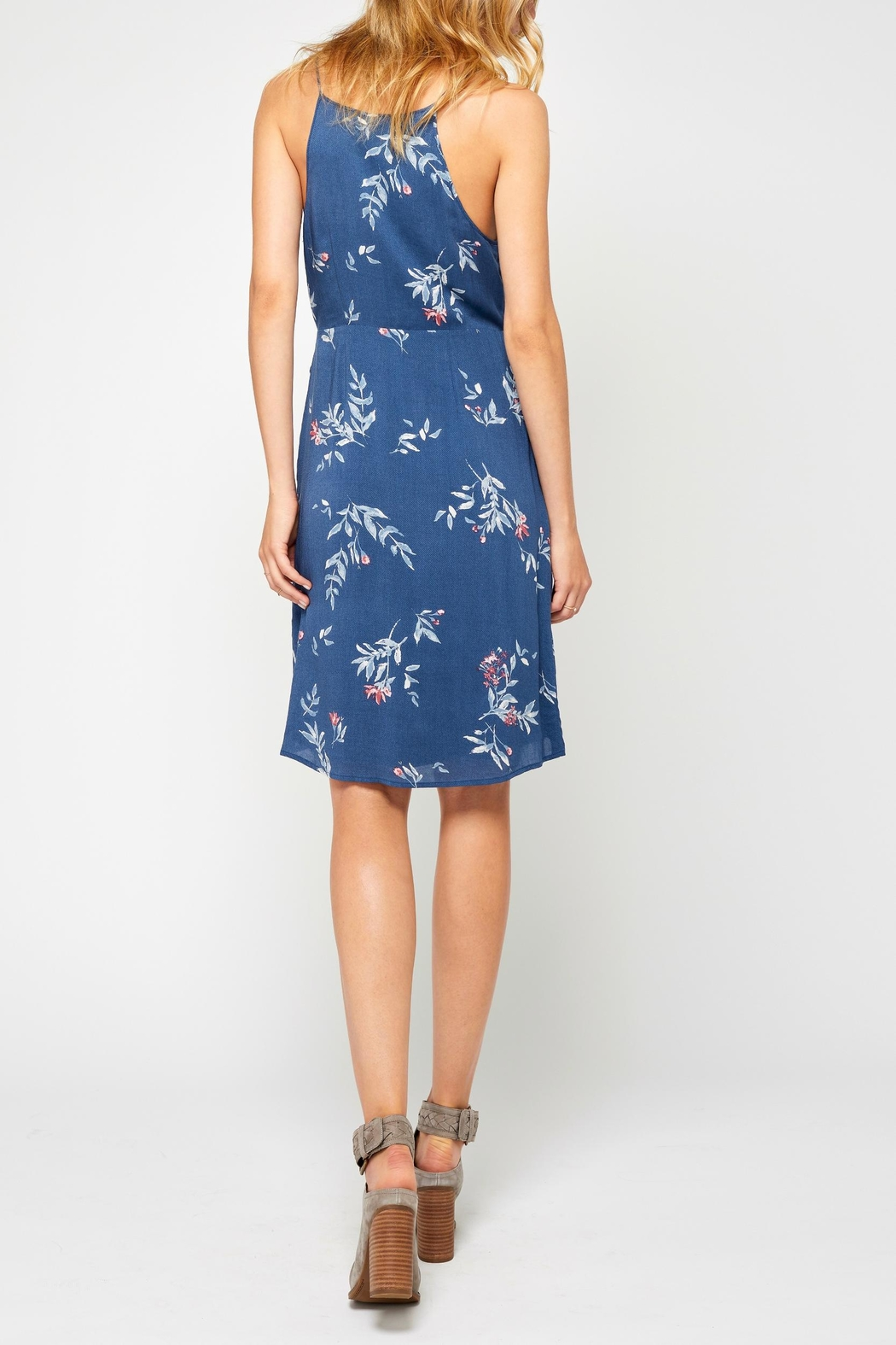 Gentle Fawn Blue Print Dress - Side Cropped Image