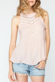 Gentle Fawn Peplum Sleeveless Top - Front cropped