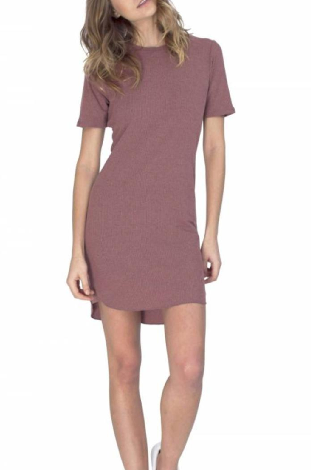 Gentle Fawn Ribbed T Shirt Dress - Main Image