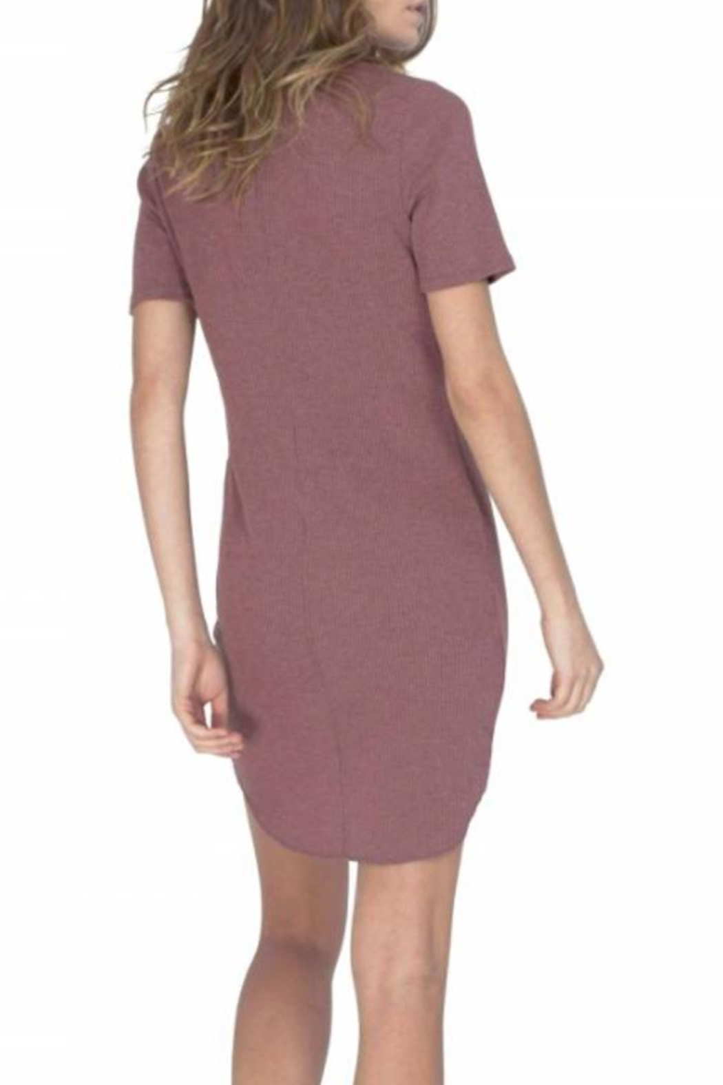 Gentle Fawn Ribbed T Shirt Dress - Front Full Image
