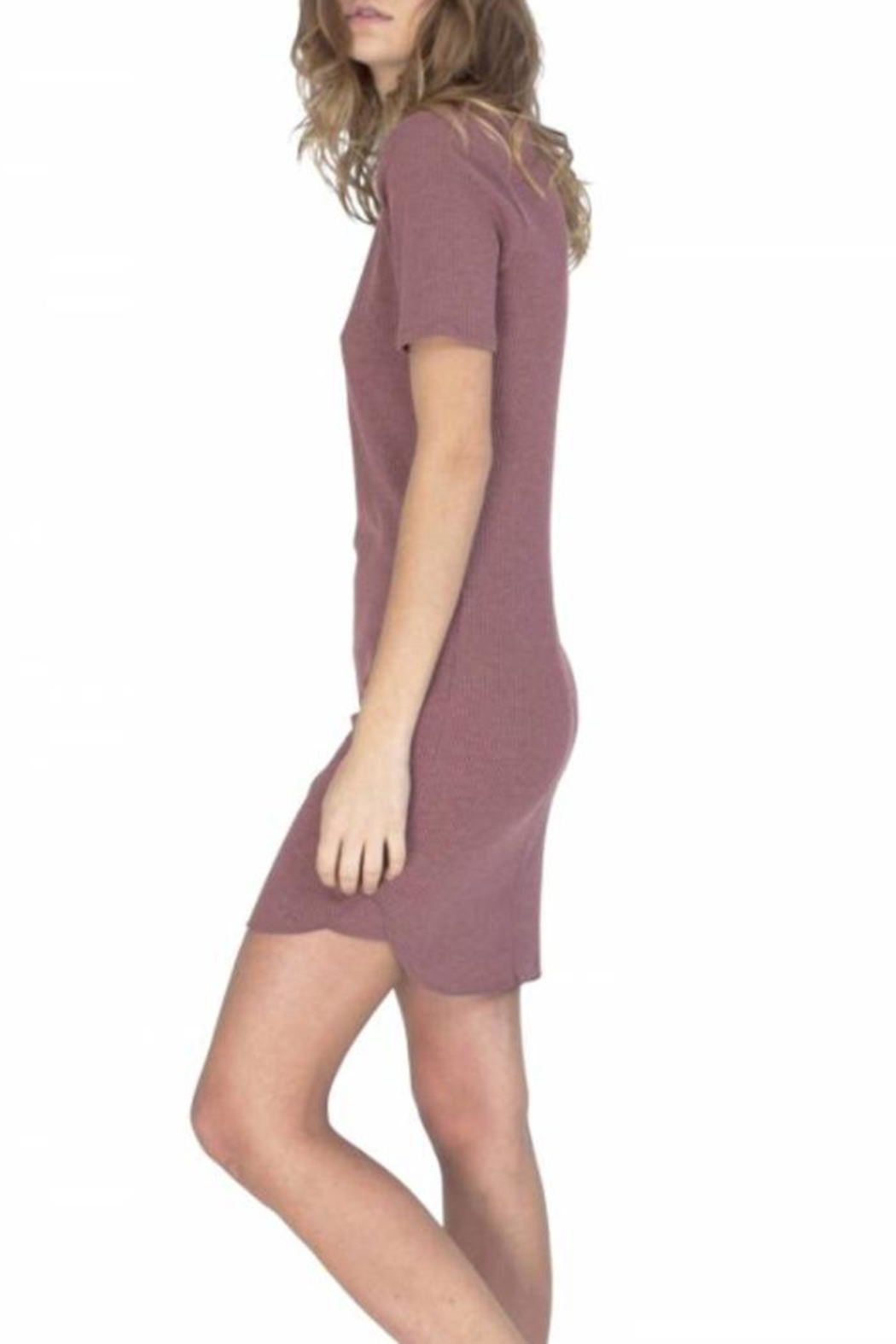 Gentle Fawn Ribbed T Shirt Dress - Side Cropped Image