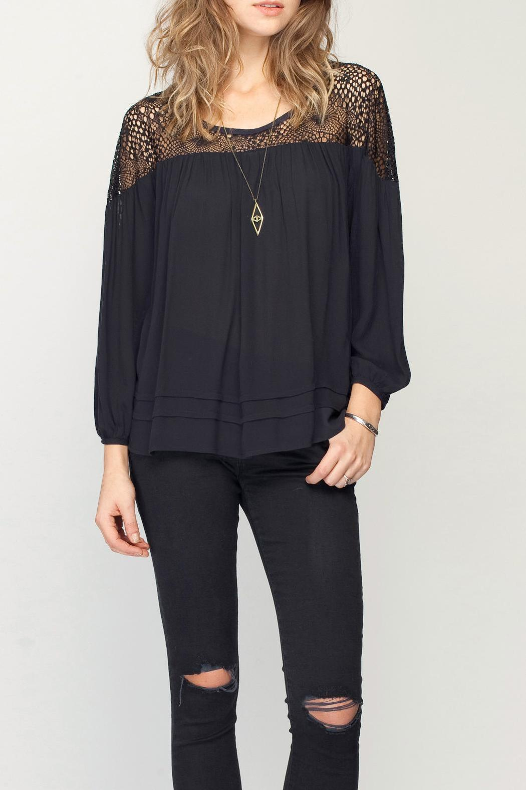 Gentle Fawn Ruffle Hem Top - Front Cropped Image