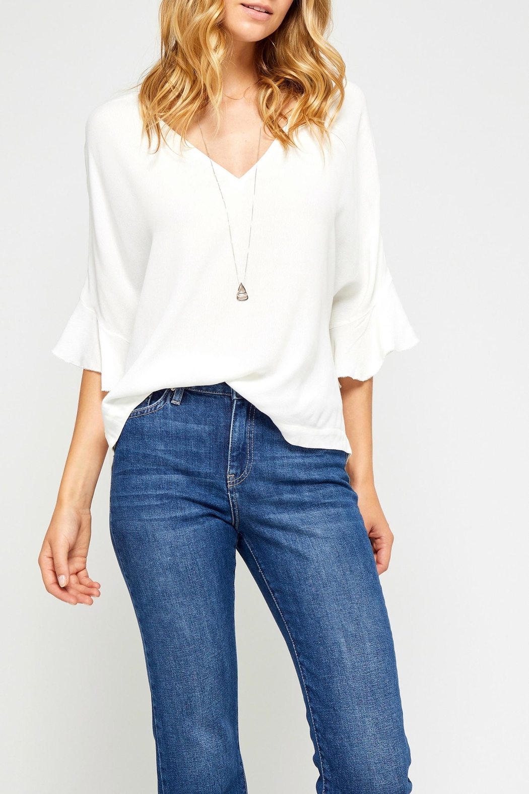 Gentle Fawn Ruffle Sleeve Top - Main Image
