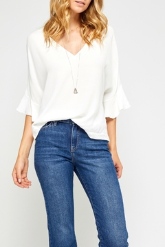 Gentle Fawn Ruffle Sleeve Top - Product List Image