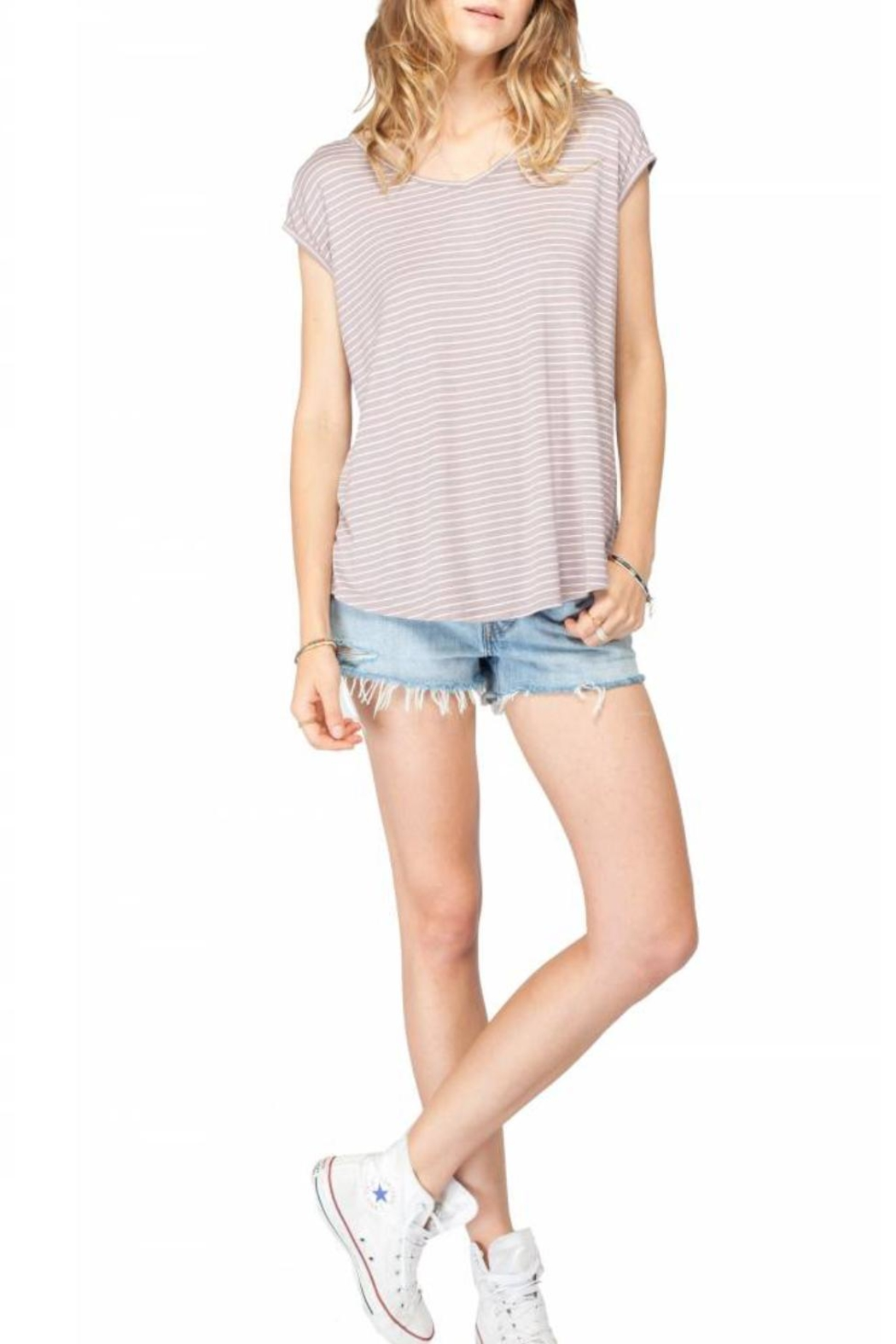 Gentle Fawn Striped Short Sleeve Top - Main Image