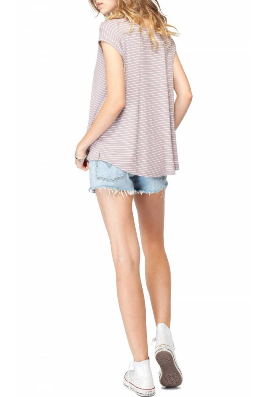 Gentle Fawn Striped Short Sleeve Top - Side Cropped Image