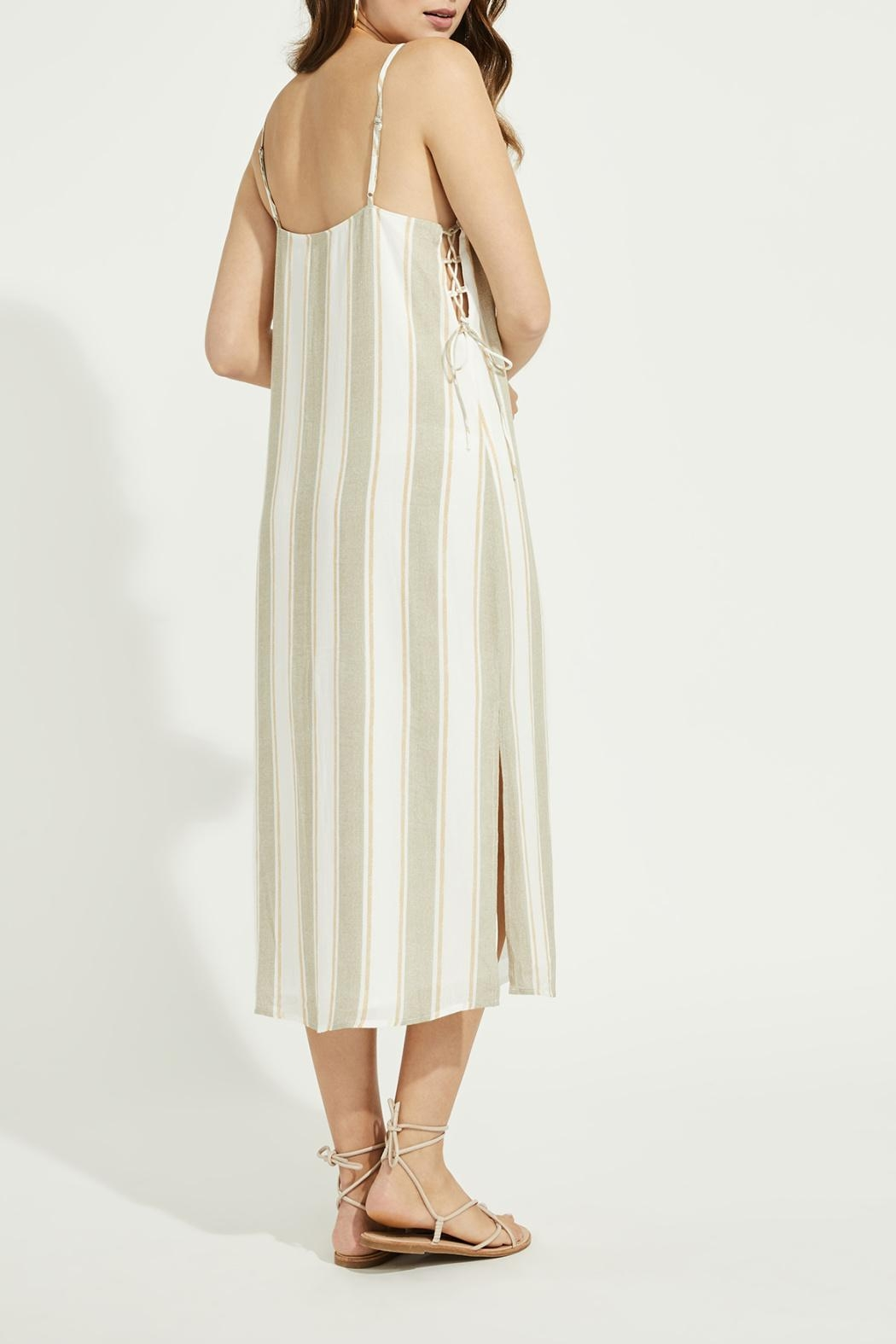 Gentle Fawn Side Lace Up Dress - Back Cropped Image
