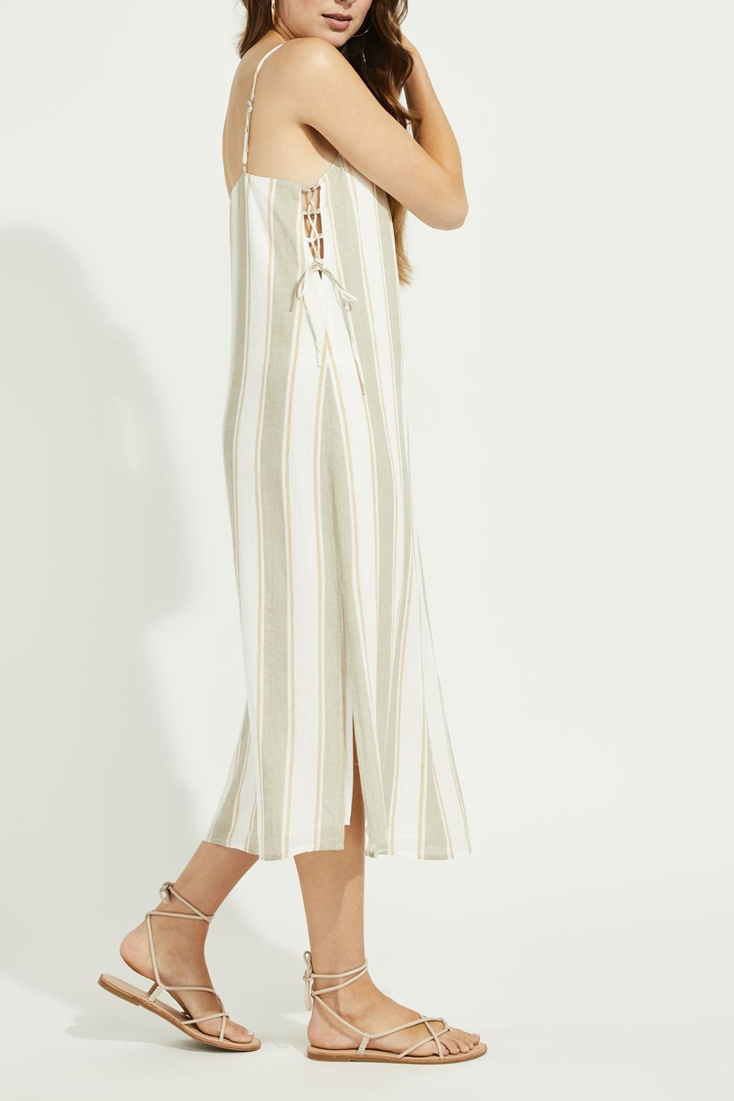 Gentle Fawn Side Lace Up Dress - Side Cropped Image