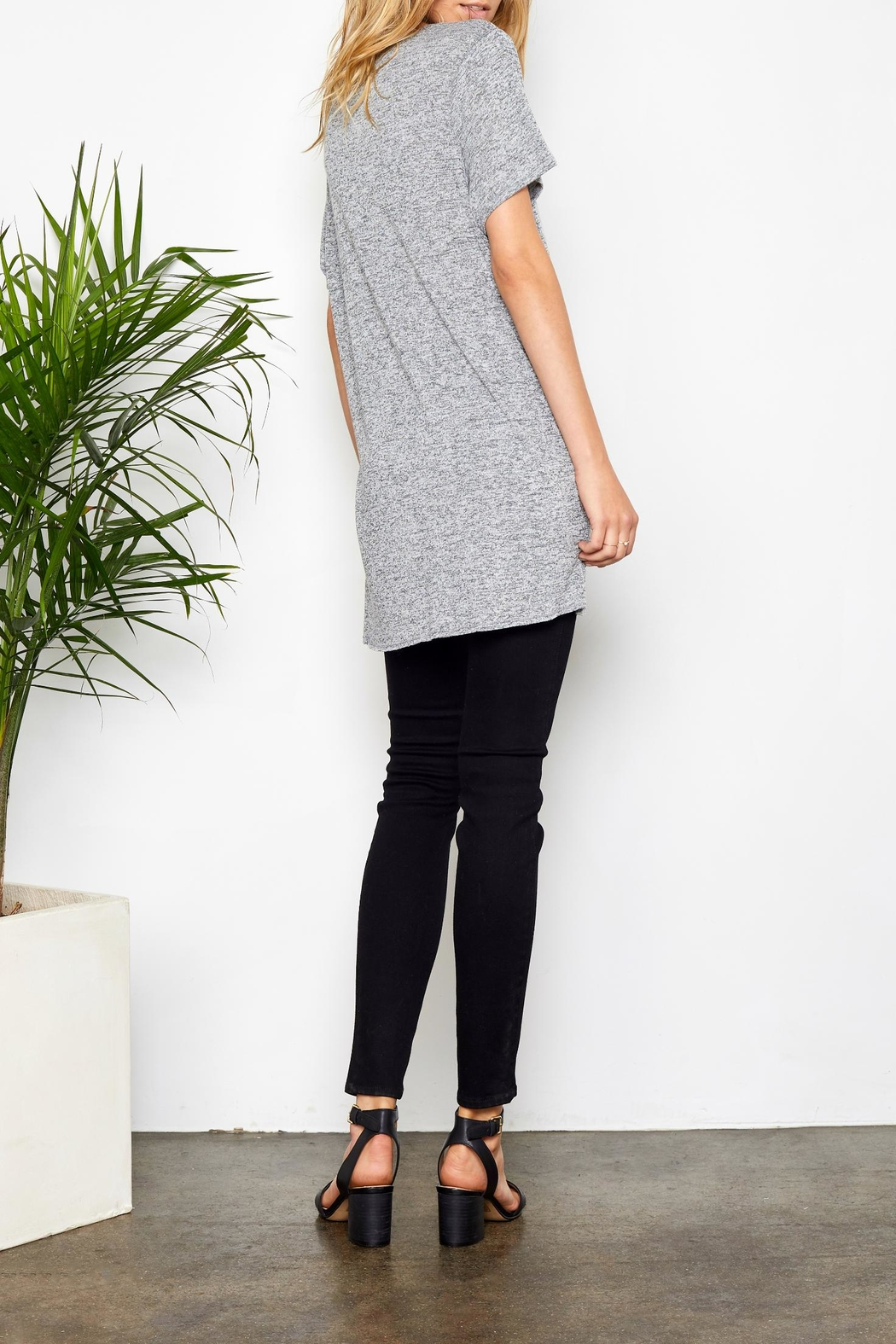 Gentle Fawn Side Slit Tee - Back Cropped Image