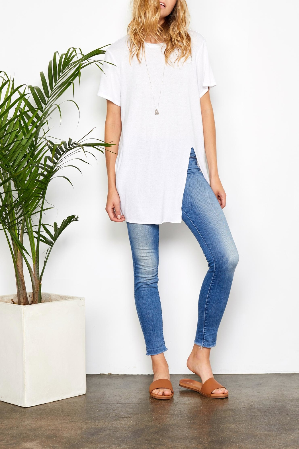 Gentle Fawn Side Slit Tee - Front Full Image