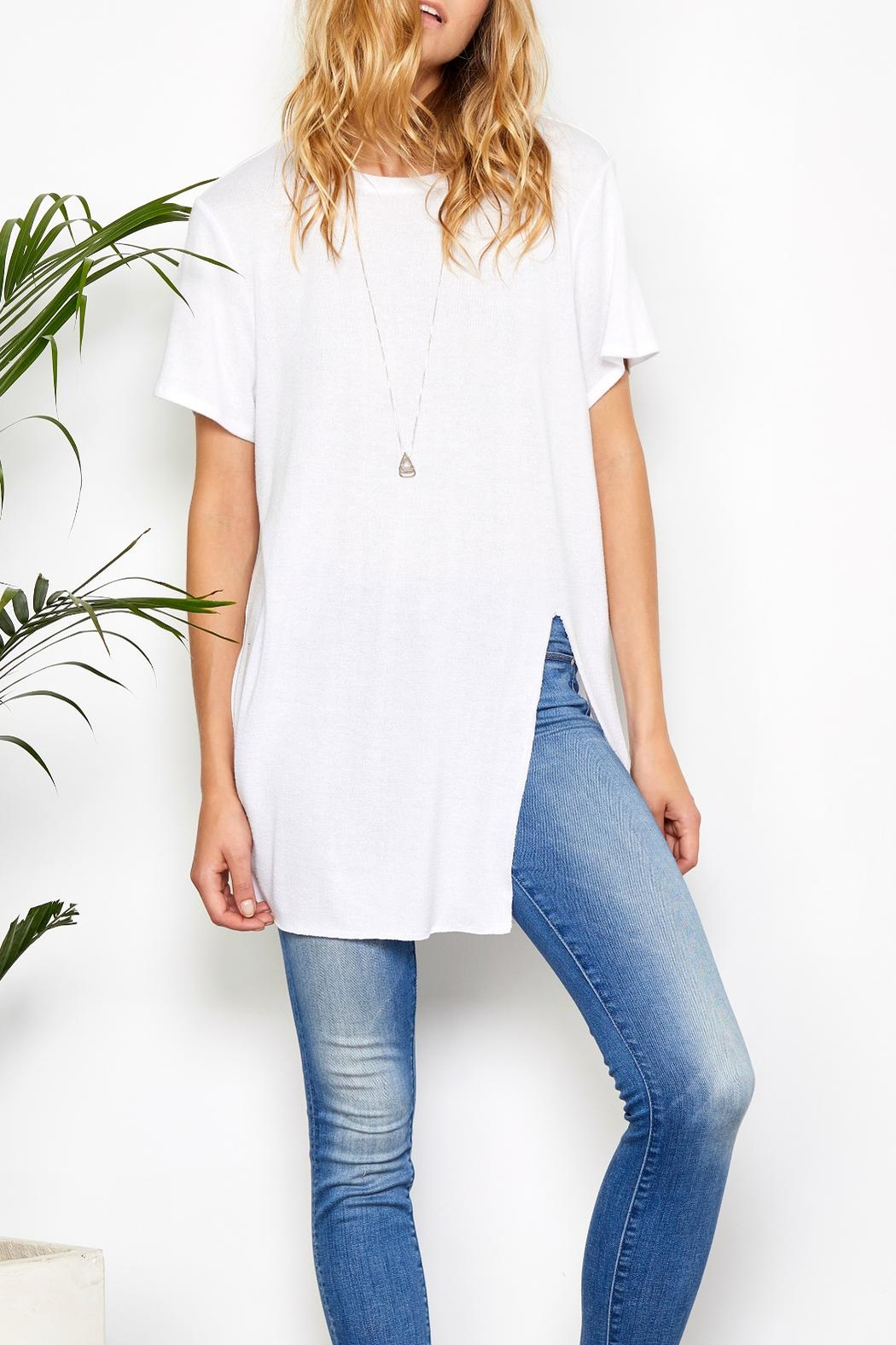 Gentle Fawn Side Slit Tee - Front Cropped Image