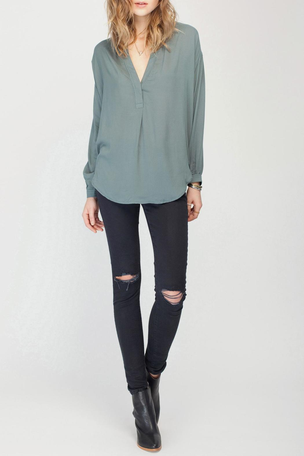 Gentle Fawn Solid Balsam Blouse - Front Full Image