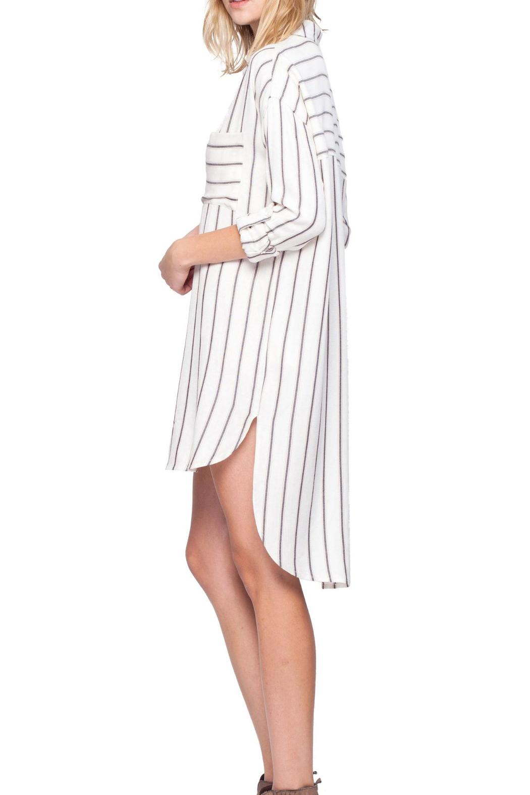 Gentle Fawn Striped Shirt Dress - Front Full Image