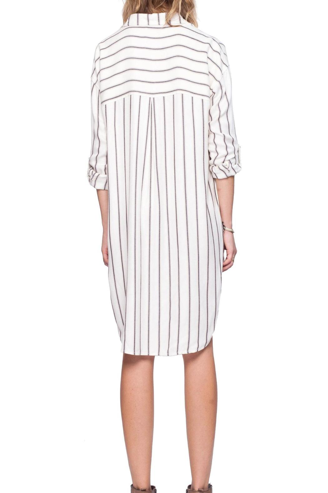 Gentle Fawn Striped Shirt Dress - Side Cropped Image