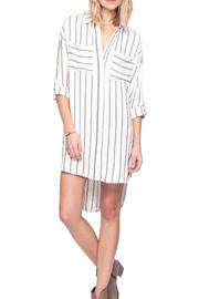 Gentle Fawn Striped Shirt Dress - Front cropped