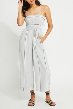 Gentle Fawn Striped Smocked Jumpsuit - Product List Image