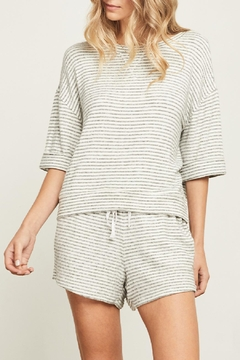 Gentle Fawn Striped Triblend Top - Product List Image