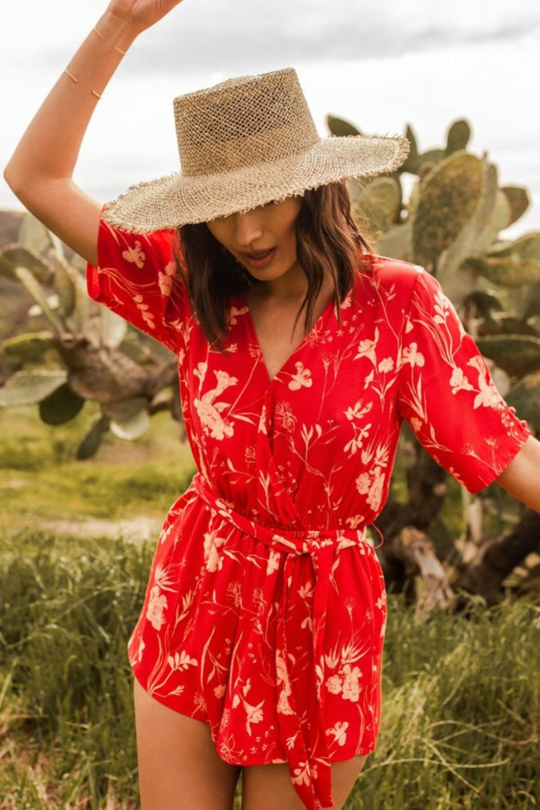 Gentle Fawn Summer Floral Romper - Main Image