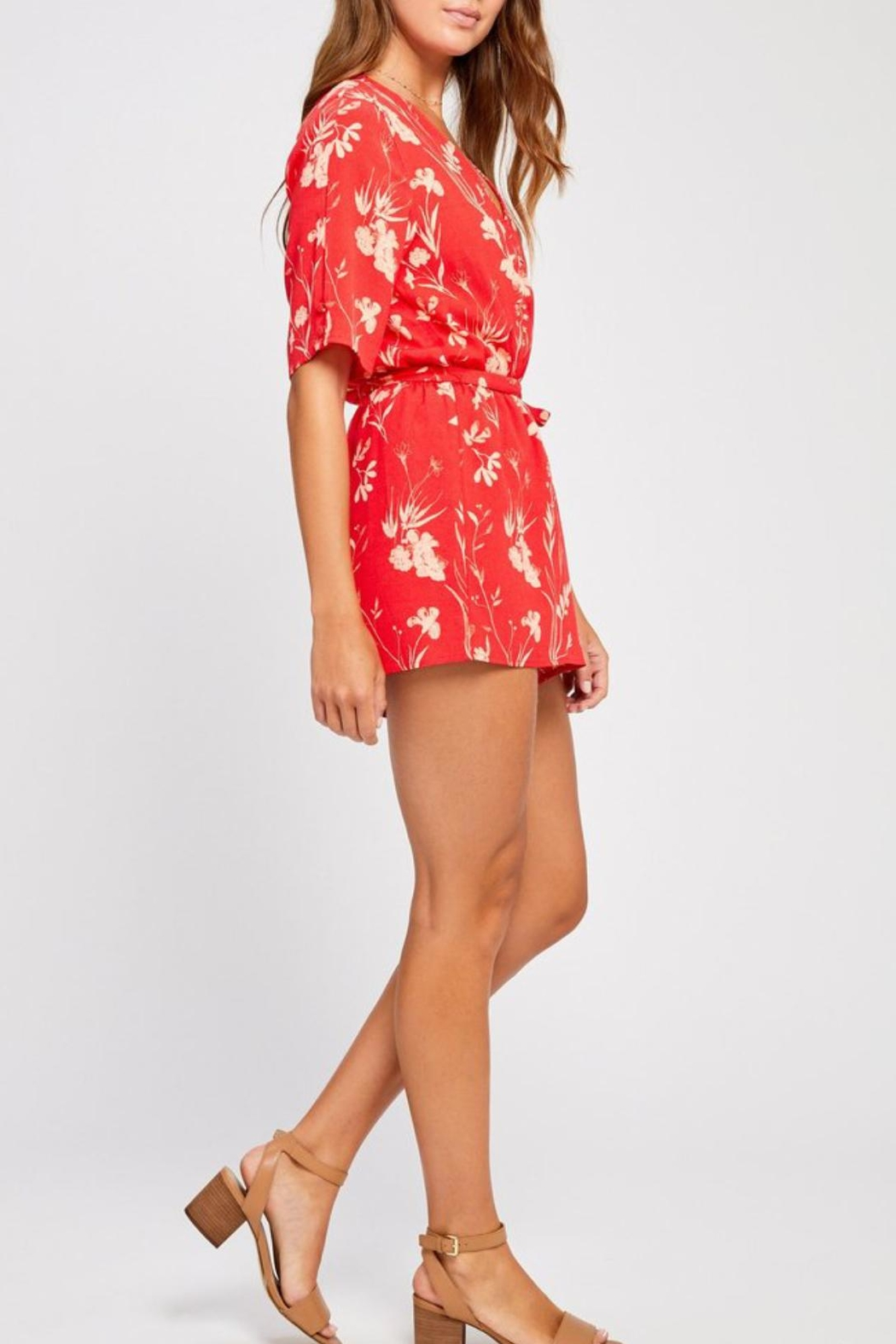 Gentle Fawn Summer Floral Romper - Side Cropped Image