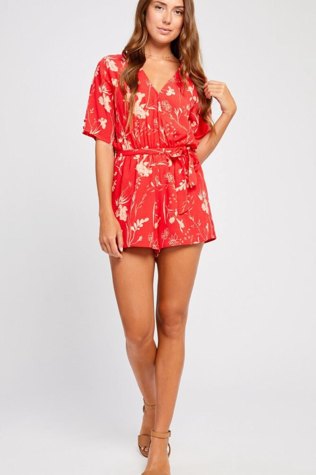 Gentle Fawn Summer Floral Romper - Front Full Image