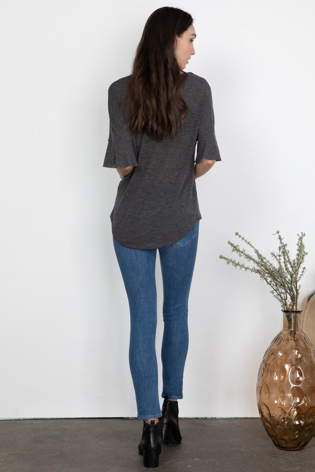 Gentle Fawn Talus Flutter Sleeve - Side Cropped Image