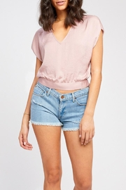 Gentle Fawn Tie Back Blouse - Front cropped
