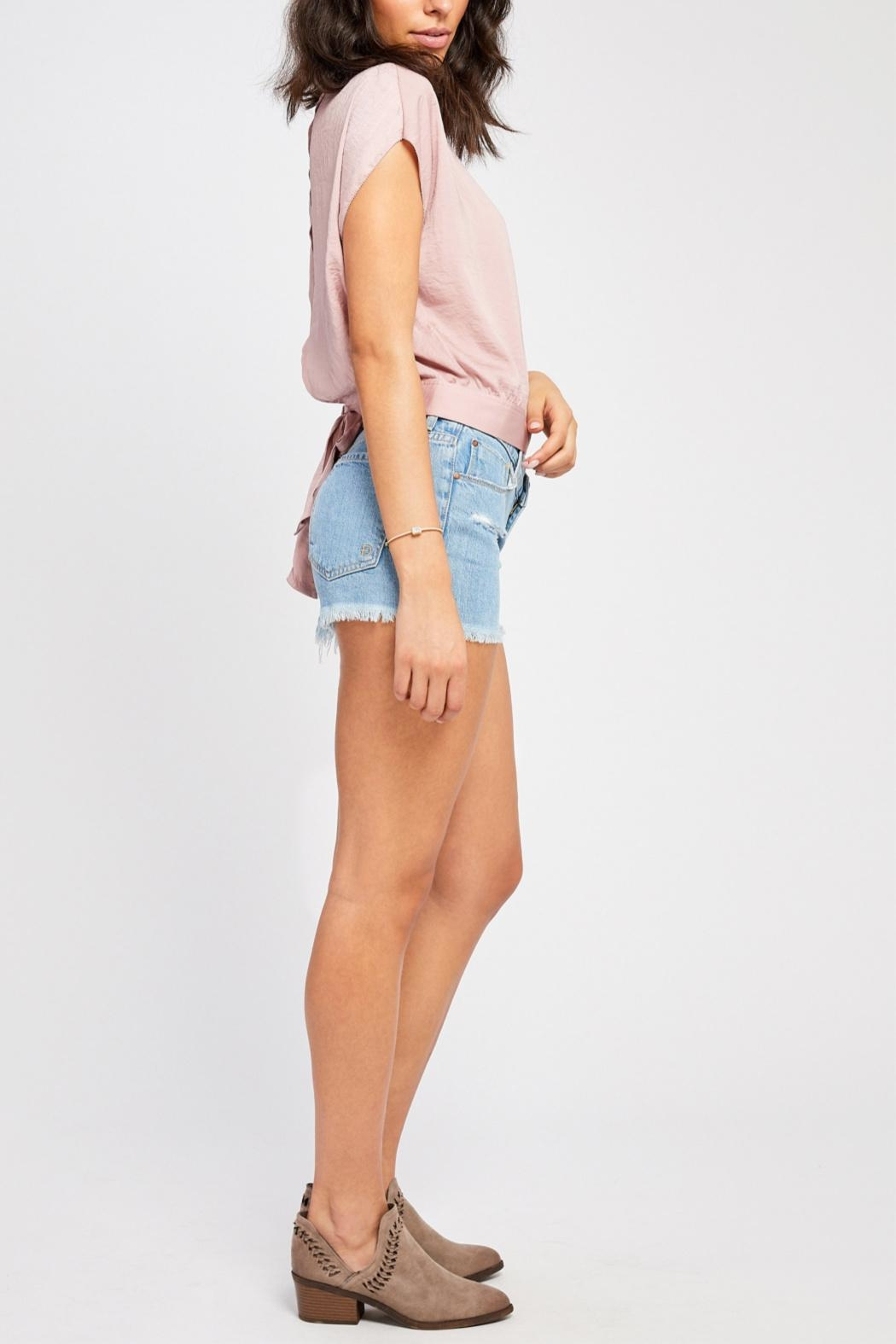 Gentle Fawn Tie Back Blouse - Front Full Image