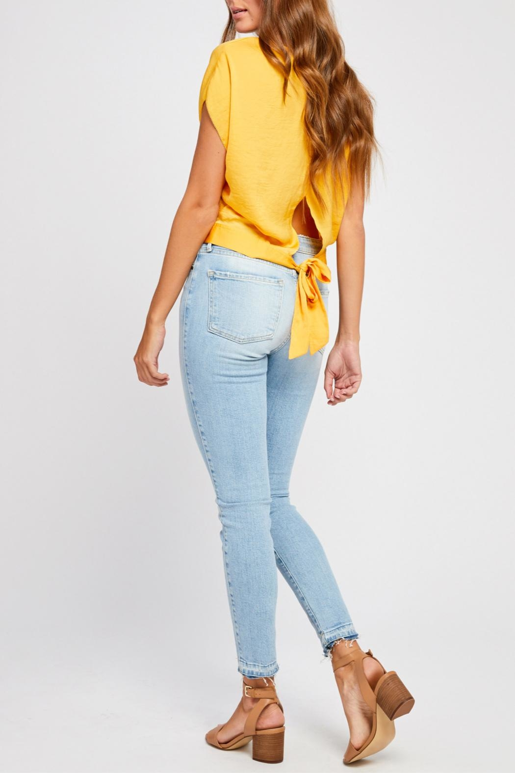 Gentle Fawn Tie Back Blouse - Back Cropped Image