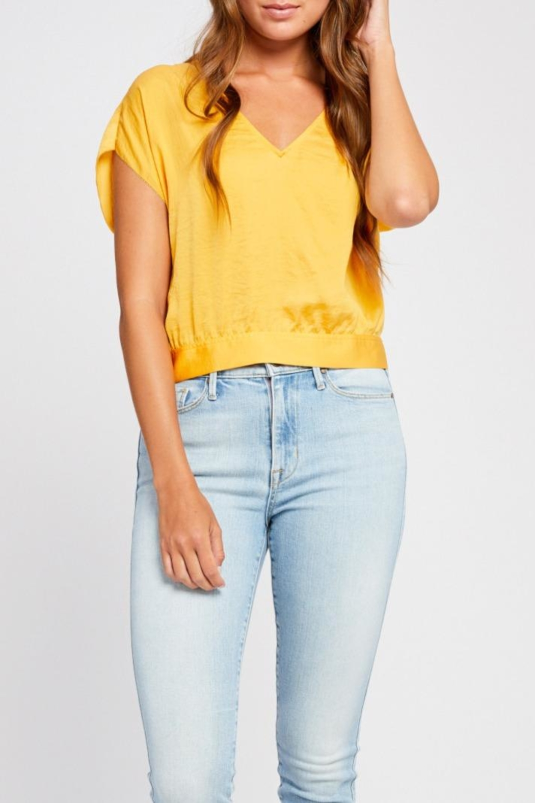 Gentle Fawn Tie Back Blouse - Front Cropped Image