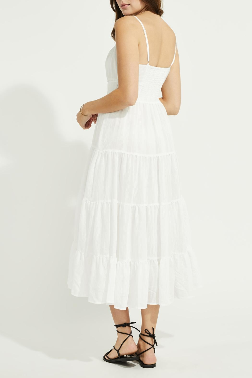 Gentle Fawn Tiered Midi Dress - Side Cropped Image
