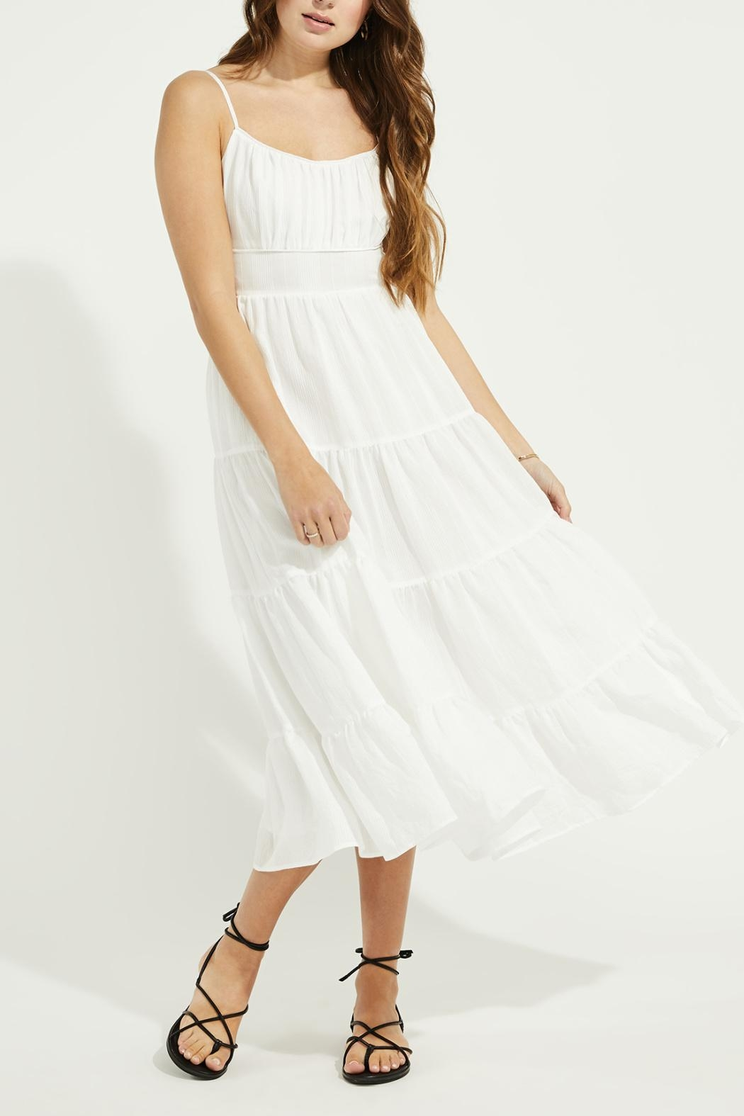 Gentle Fawn Tiered Midi Dress - Front Full Image