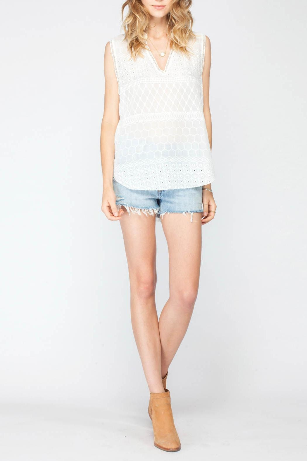 Gentle Fawn Torero Sleeveless Top - Front Cropped Image