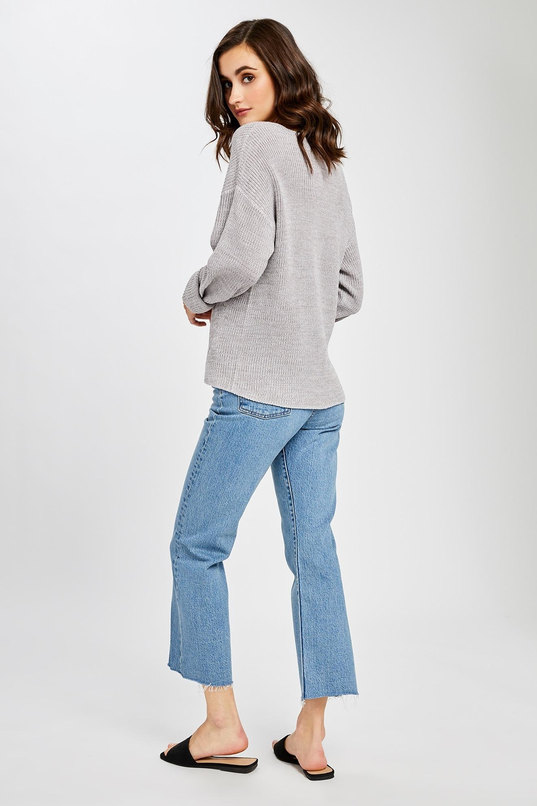 Gentle Fawn Tucker V Neck Sweater - Side Cropped Image