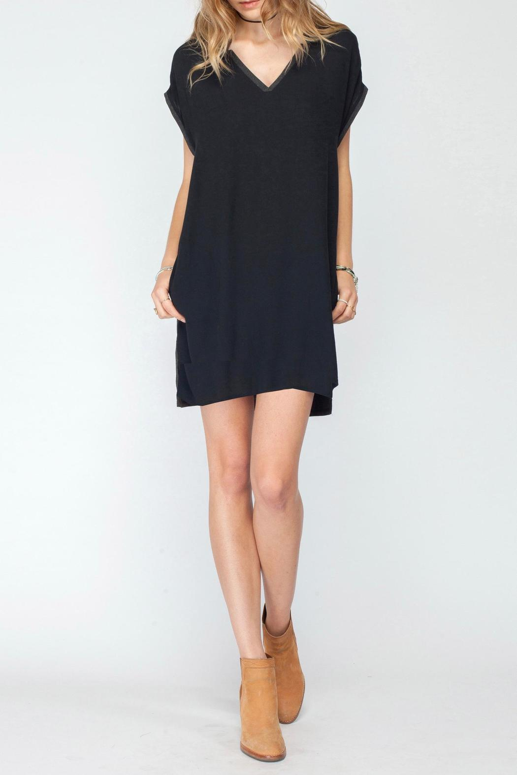 Gentle Fawn V Neck Jersey Dress - Main Image