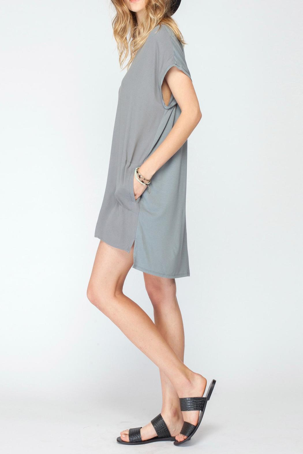 Gentle Fawn V Neck Jersey Dress - Front Full Image