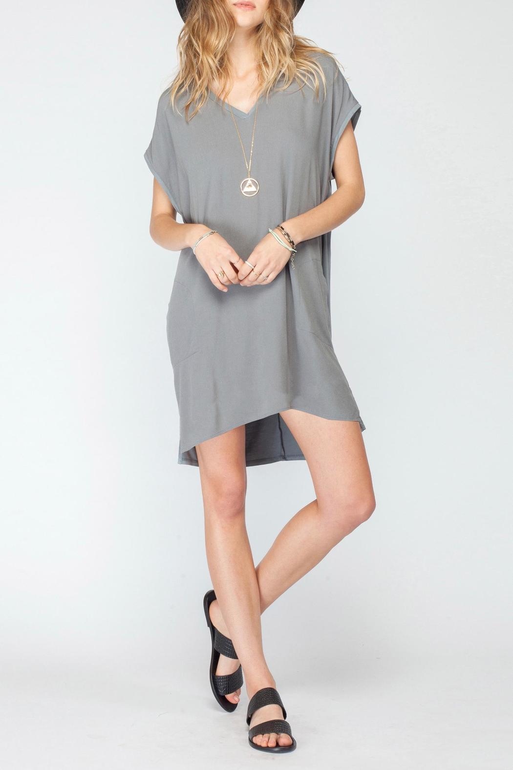 Gentle Fawn V Neck Jersey Dress - Front Cropped Image