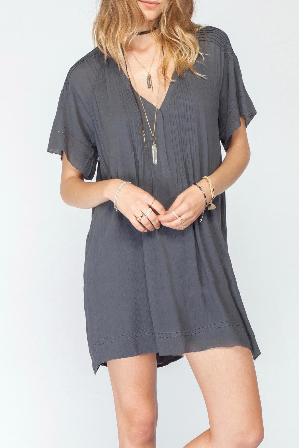 Gentle Fawn V Neck Pleat Dress - Front Cropped Image