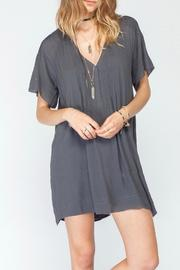Gentle Fawn V Neck Pleat Dress - Front cropped