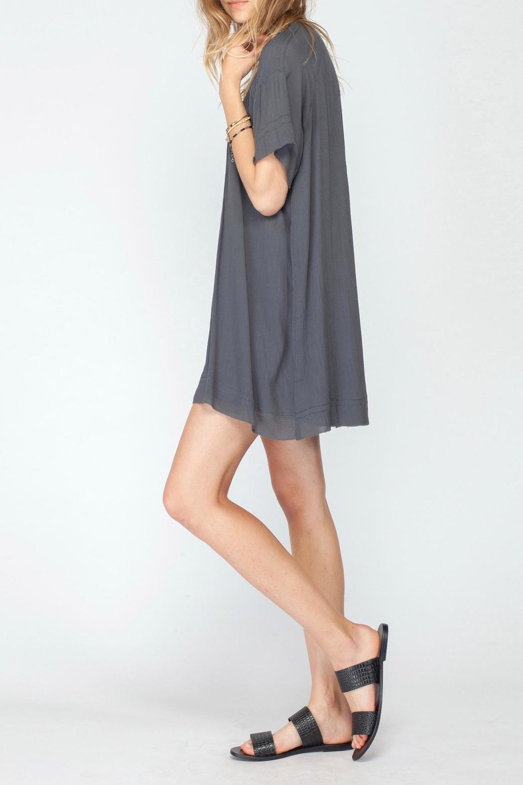 Gentle Fawn V Neck Pleat Dress - Side Cropped Image