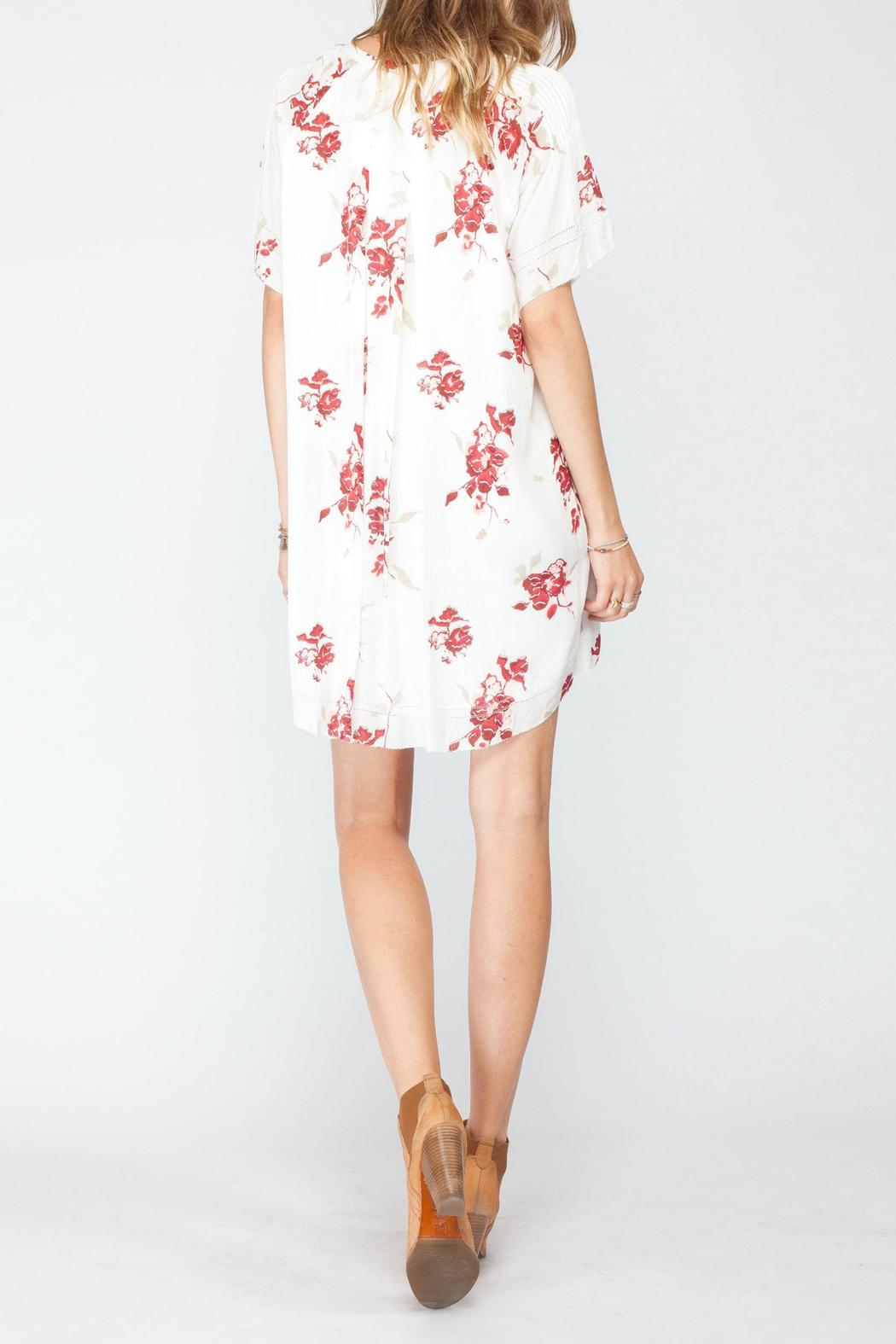 Gentle Fawn V Neck Pleat Dress - Back Cropped Image