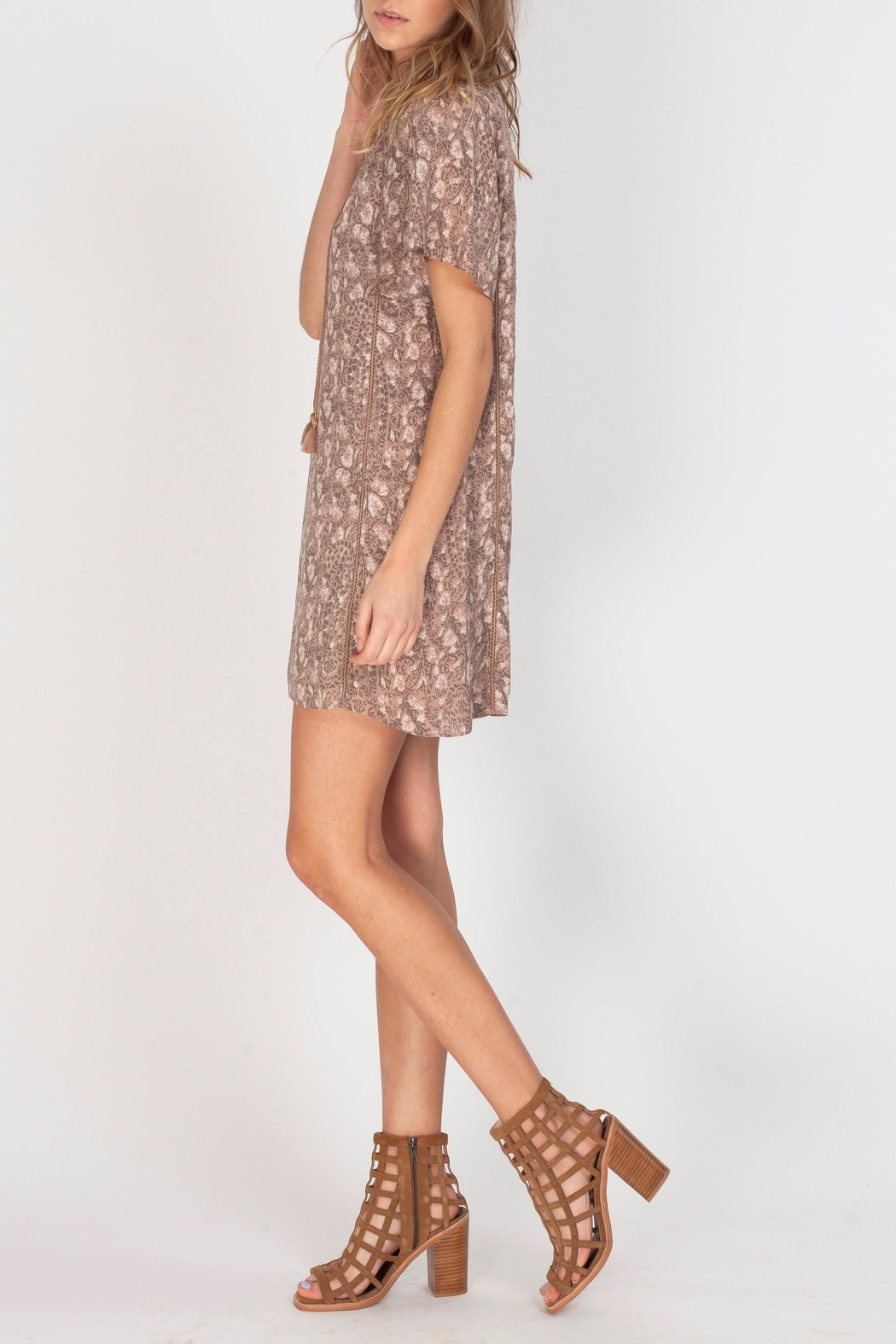 Gentle Fawn V-Neck Printed Dress - Side Cropped Image