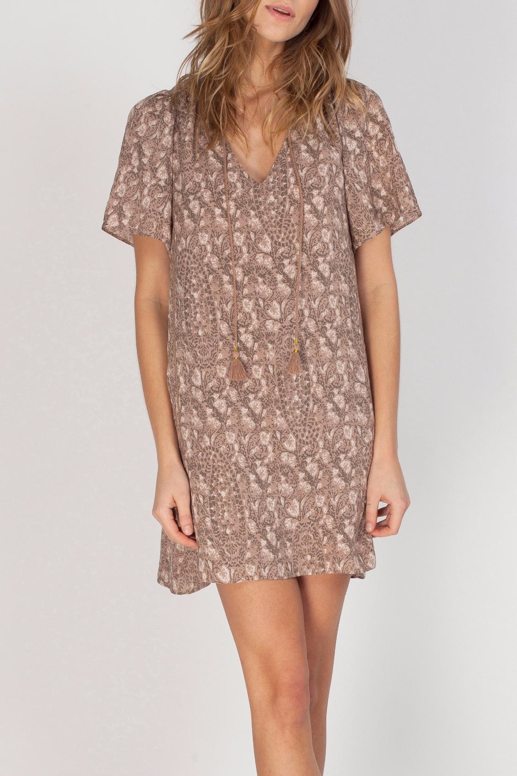 Gentle Fawn V-Neck Printed Dress - Main Image