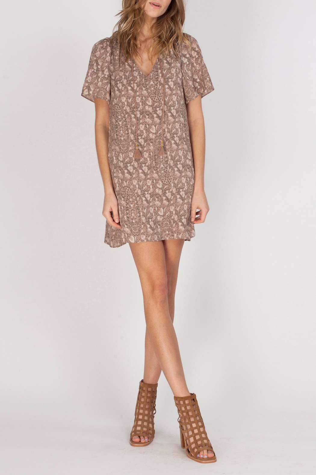 Gentle Fawn V-Neck Printed Dress - Front Full Image