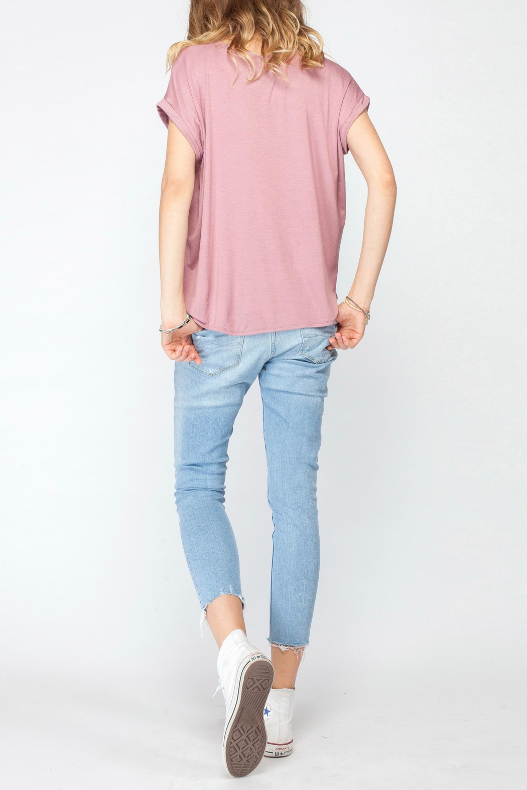 Gentle Fawn Soft Pink Basic Tee - Back Cropped Image