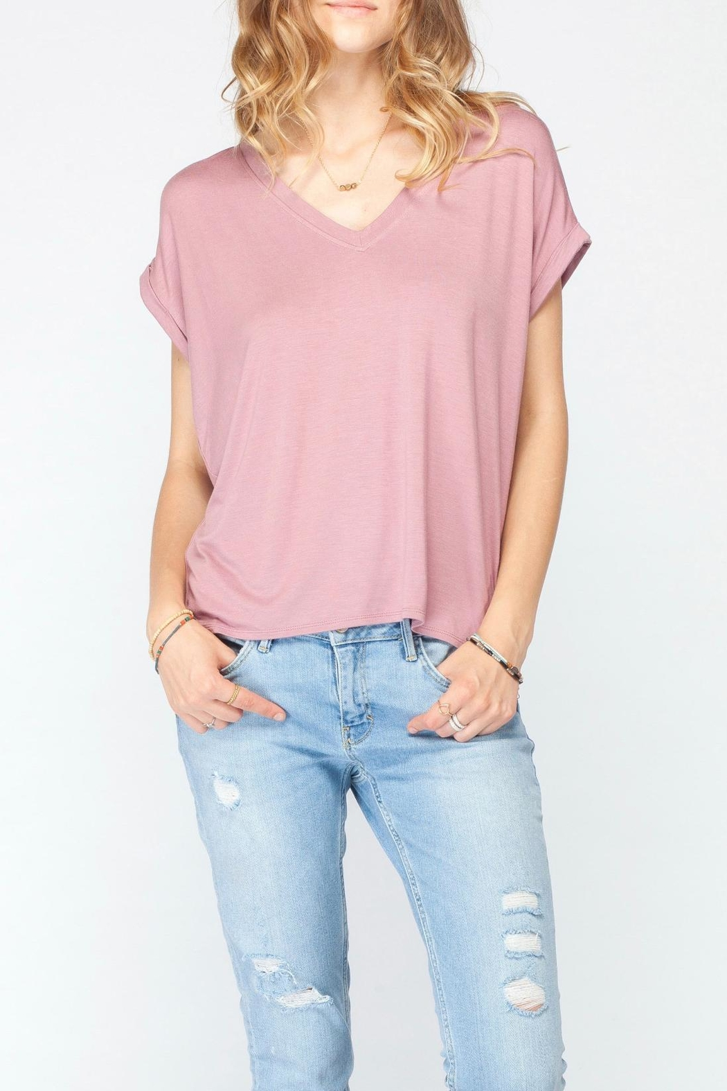 Gentle Fawn Soft Pink Basic Tee - Main Image