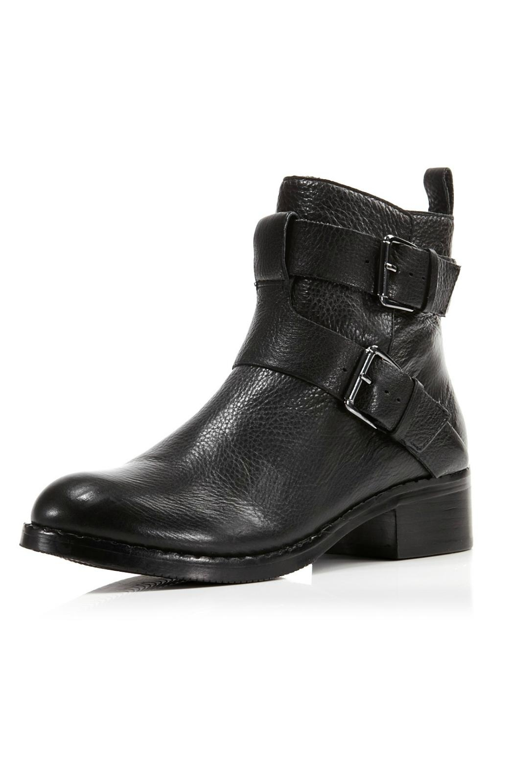 Gentle Souls Black Moto Boot - Front Cropped Image