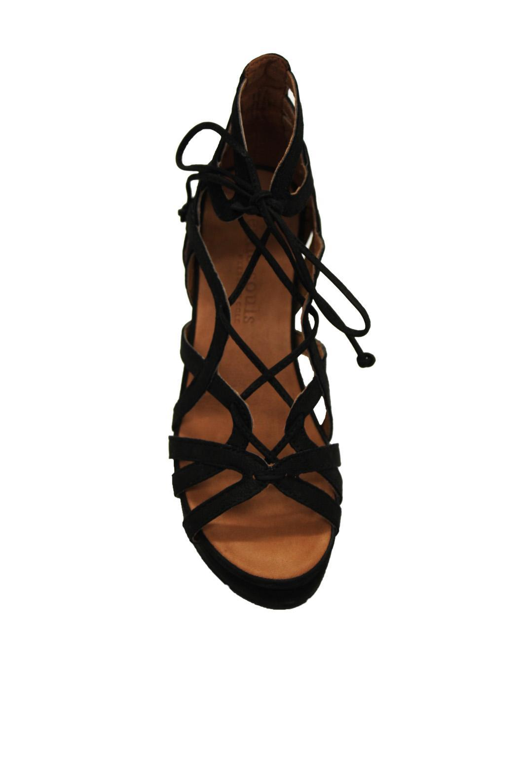 Gentle Souls Suede Wedge Sandal - Side Cropped Image