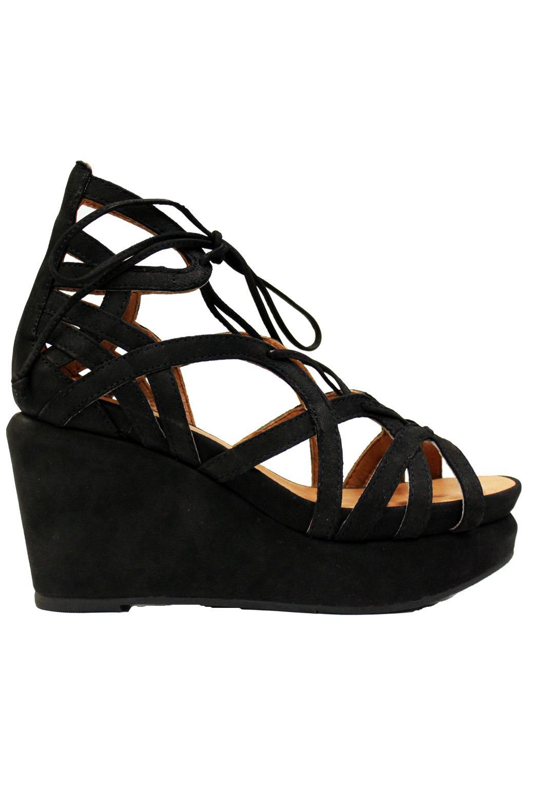 Gentle Souls Suede Wedge Sandal - Front Full Image